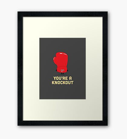 Character Building - Boxing Glove Framed Print