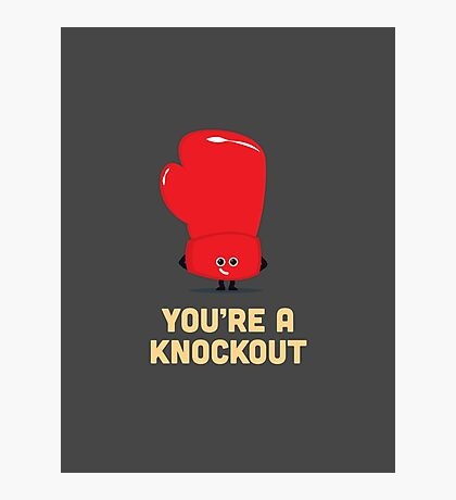 Character Building - Boxing Glove Photographic Print