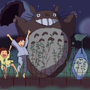 My Neighbour Totoro scene by PaintedFrogs