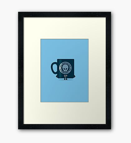 Character Building - Evil Coffee Framed Print