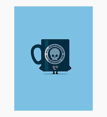 Character Building - Evil Coffee Photographic Print