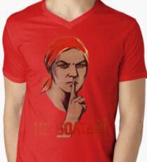 Soviet Treason Poster Men's V-Neck T-Shirt