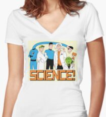 SCIENCE! Women's Fitted V-Neck T-Shirt