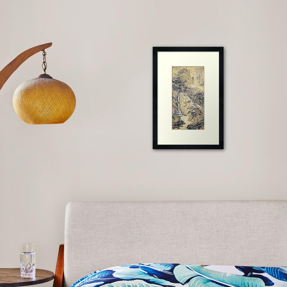 Shen Zhou Lofty Mount Lu Framed Art Print