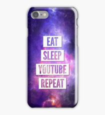 Eat Sleep YouTube Repeat iPhone Case/Skin