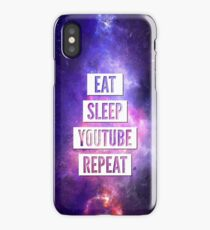 Eat Sleep YouTube Repeat iPhone Case