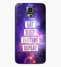 Eat Sleep YouTube Repeat Case/Skin for Samsung Galaxy