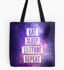 Eat Sleep YouTube Repeat Tote Bag