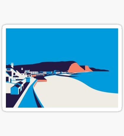 Sidmouth Seascape Sticker