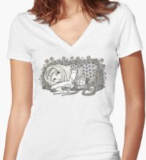 Alice (The Book with No Pictures) Women's Fitted V-Neck T-Shirt
