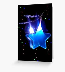 Twinkle-Twinkle Blue Star Greeting Card
