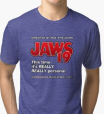 Jaws 19 - This time it's really really personal (Back to the Future) Tri-blend T-Shirt
