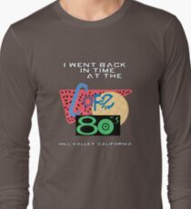 I Went Back In Time at the Cafe 80s - Back to the Future Long Sleeve T-Shirt