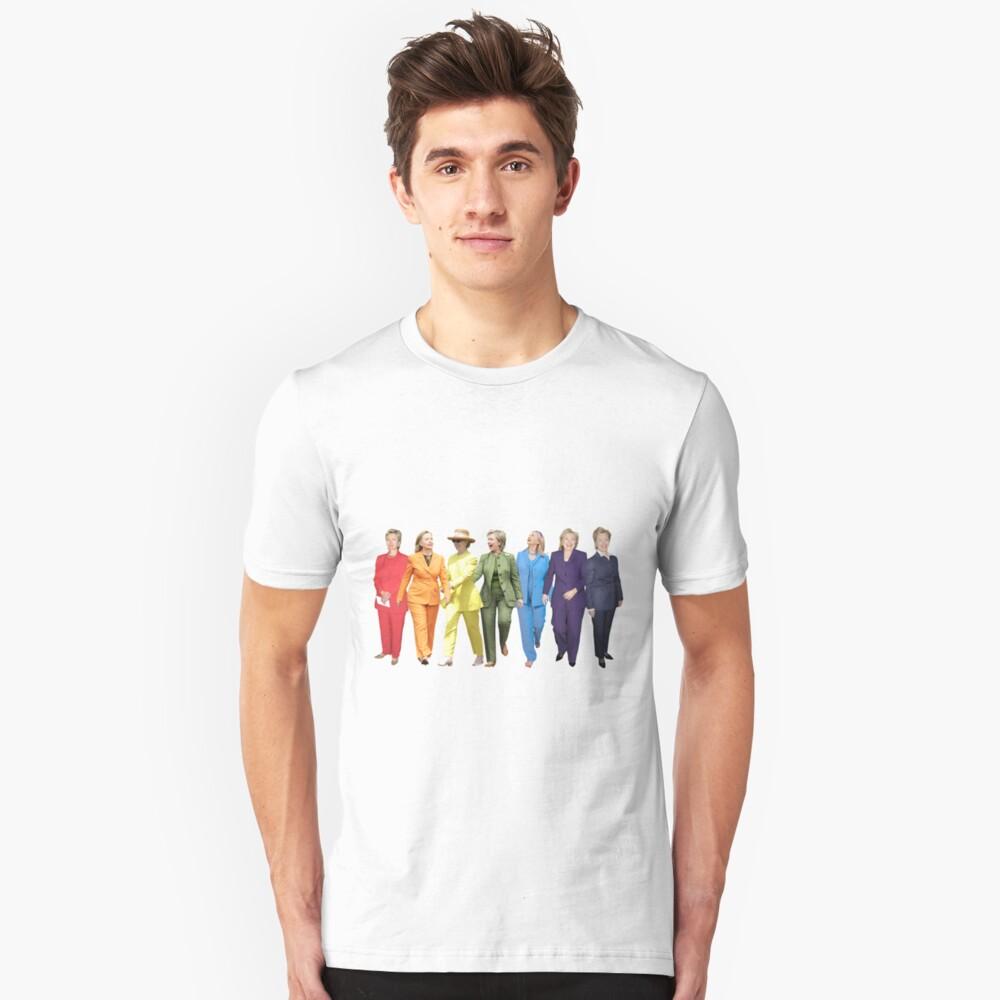 Hillary Clinton Pantsuit Unisex T-Shirt Front