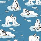 Polar Bear Loves Penguin by micklyn