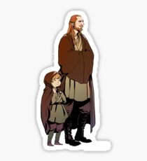Qui Gon and Padawan Sticker