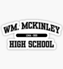 William McKinley High School (Black) Sticker