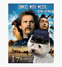West Highland White Terrier Art - Dances with Wolves Movie Poster Photographic Print