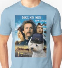 West Highland White Terrier Art - Dances with Wolves Movie Poster Unisex T-Shirt
