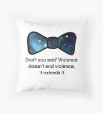 Violence doesn't end violence Throw Pillow