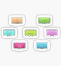 Positivity Stamp Set Sticker