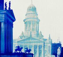 Vintage retro Berlin Germany travel ad Sticker