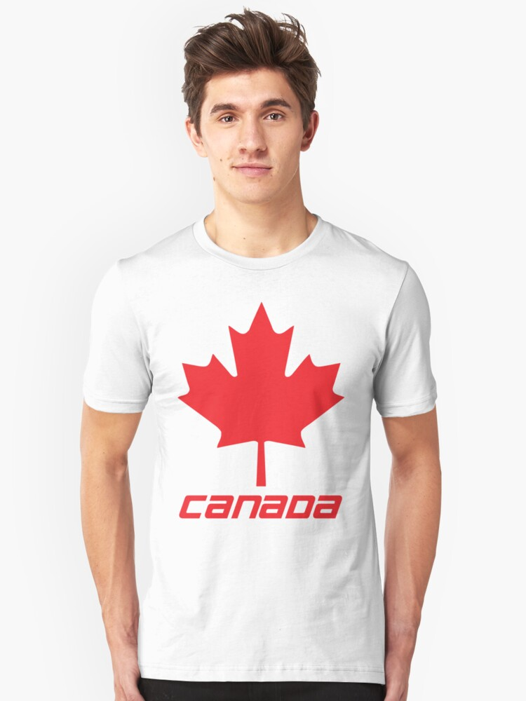 Maple Leaf - Red Unisex T-Shirt Front