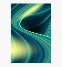 Colorful smooth twist light blue background Photographic Print