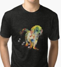 Colorful Puppy - Little Friend Tri-blend T-Shirt