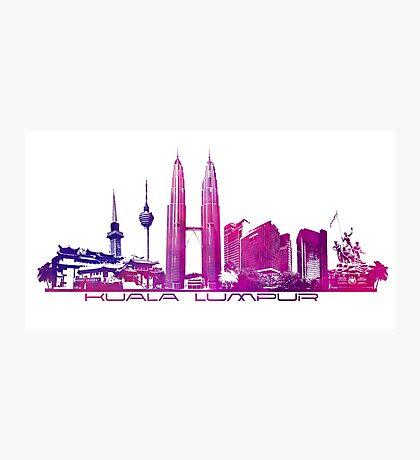 Kuala Lumpur skyline purple Photographic Print