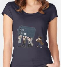 The rebel angels have the phonebox Women's Fitted Scoop T-Shirt