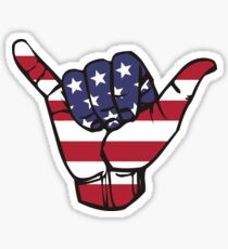 USA Shaka Sticker