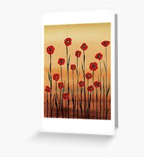 Landscape With Red Poppies Greeting Card
