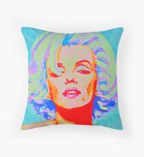 Pop Art Bombshell Throw Pillow