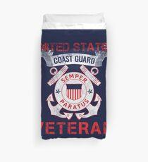 Coast Guard Veteran Duvet Cover