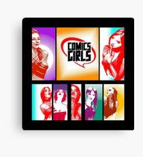 Comics Girls Canvas Print