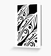 Three Feathers Abstract Zoom Greeting Card
