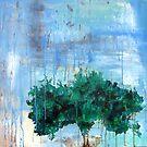 Apple Tree In Rain by Katie Robinson