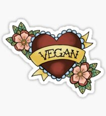 vegan trad Sticker
