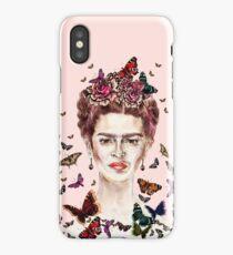 Frida Kahlo Flowers Butterflies iPhone Case/Skin