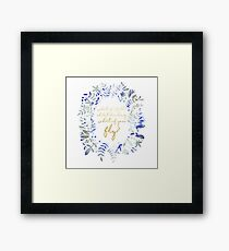 What If You Fly Floral Quote Framed Print