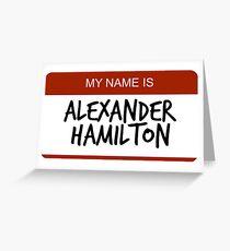 Hamilton Nametag 1 Grußkarte