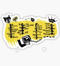 Sounds Good Feels Good Acrostic Sticker
