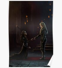 Lexa bows to Clarke Poster
