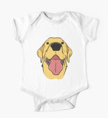 Happy Yellow Lab One Piece - Short Sleeve