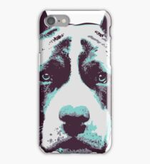 Blue Pit Bull  iPhone Case/Skin