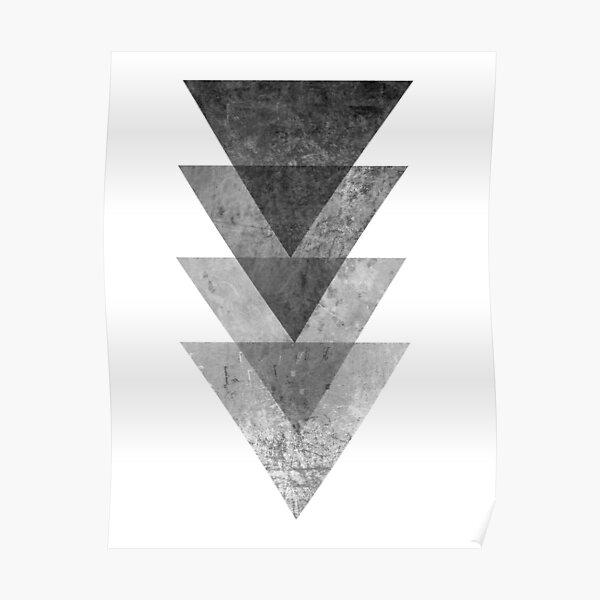 Geometric Gray Triangle Print Poster