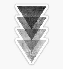 Geometric Gray Triangle Print Sticker