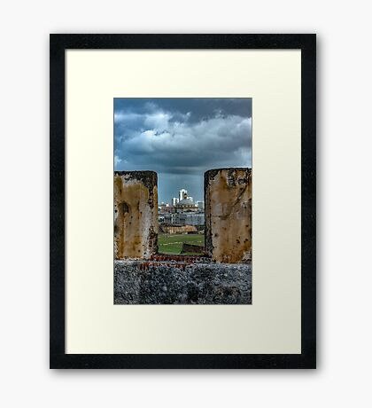 A Fort with a View Framed Print