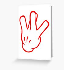 West Side - Red Greeting Card